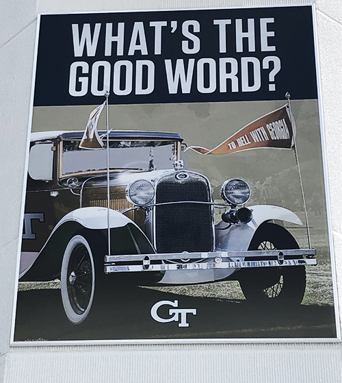 """""""What's The Good Word?"""" Stadium Banner"""
